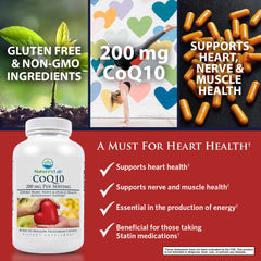 Nature's Lab CoQ10 200mg 60 capsules Benefits
