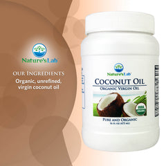 Nature's Lab Organic Virgin Coconut Oil 16 oz (473 mL) Ingredients