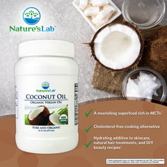 Nature's Lab Organic Virgin Coconut Oil 16 oz (473 mL) Info