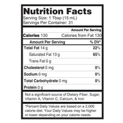 Nature's Lab Organic Virgin Coconut Oil - 16 oz (473 mL) Supplement Facts