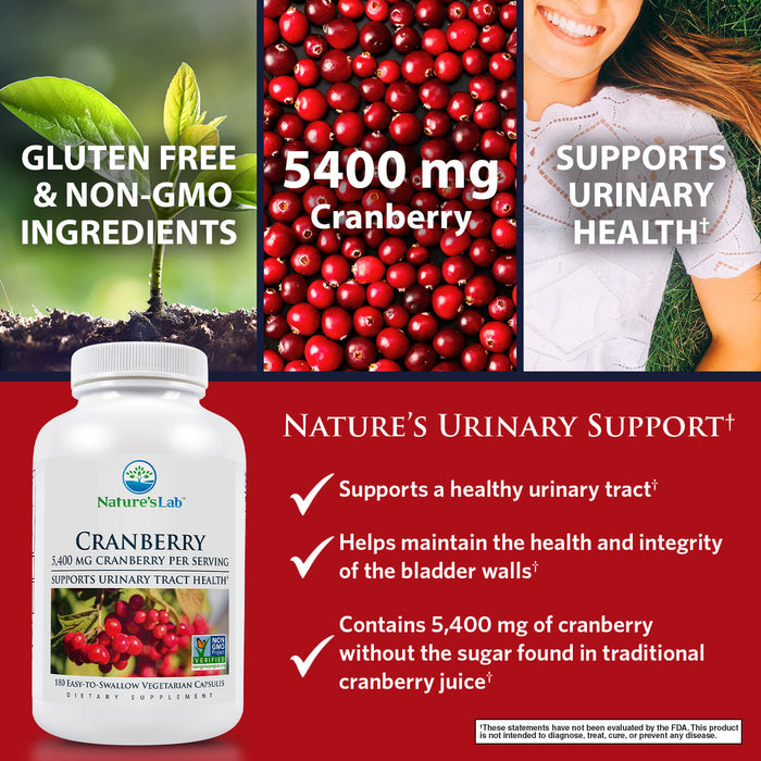 Nature's Lab Cranberry 5400mg - 180 capsules