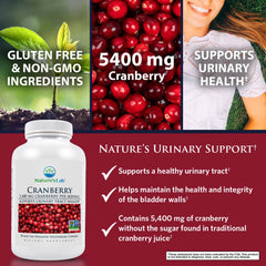 Nature's Lab Cranberry 5400mg 90 capsules Benefits