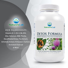Nature's Lab Detox Formula 90 Capsules Ingredients