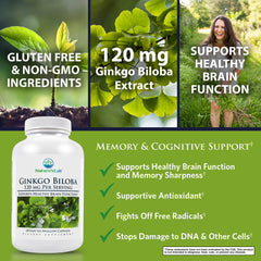 Nature's Lab Ginkgo Biloba 120mg 60 capsules Benefits