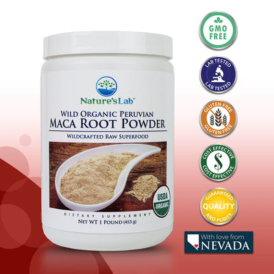 Nature's Lab Organic Maca Root Powder - 1 lb (453 g)