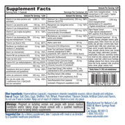 Nature's Lab One Daily Multivitamin 60 Capsules Supplement Facts