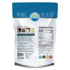 Nature's Lab Organic Maca Root Powder 2 lb bag (918 g) Back