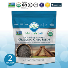 Nature's Lab Organic Chia Seeds - 2 lb bag