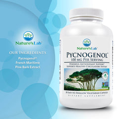 Nature's Lab Pycnogenol 100mg 30 capsules Ingredients