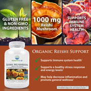 Nature's Lab Organic Reishi Mushroom 1000 mg 180 capsules Benefits