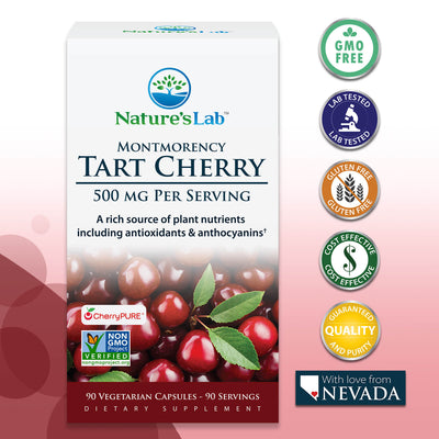 Nature's Lab Tart Cherry 500 mg - 90 capsules