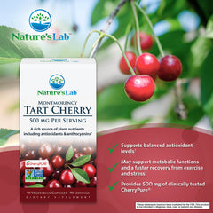 Nature's Lab Tart Cherry 500mg 90 capsules Info