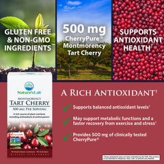 Nature's Lab Tart Cherry 500mg 90 capsules Benefits
