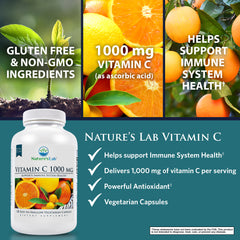 Nature's Lab Vitamin C 1000mg 120 capsules Benefits