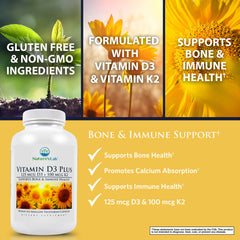Nature's Lab Vitamin D3 Plus 90 capsules Benefits
