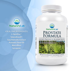 Nature's Lab Prostate Formula 180 Capsules Ingredients