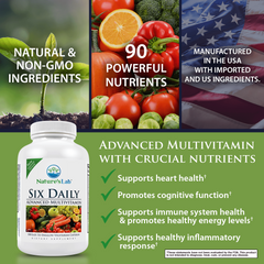 Nature's Lab Six Daily Advanced Multivitamin - 180 Capsules