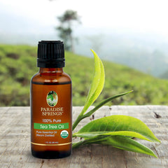 Paradise Springs Organic Tea Tree Oil - 1 oz (30 mL)