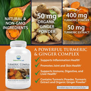 Nature's Lab Turmeric Complex 500mg 180 capsules Info
