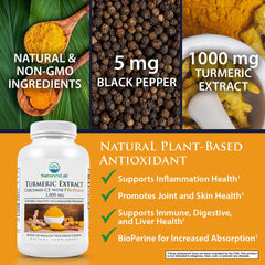 Nature's Lab Turmeric Extract with Curcumin C3®️ and BioPerine®️ 60 capsules Info
