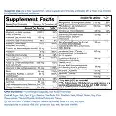 Nature's Lab Detox Formula 90 Capsules Supplement Facts