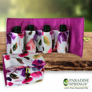 Paradise Springs Starter Pack Bottles in Pouch Open and Closed
