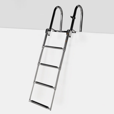 SSL-UFSL Stainless Steel Rear Entry Telescoping Pontoon Ladder
