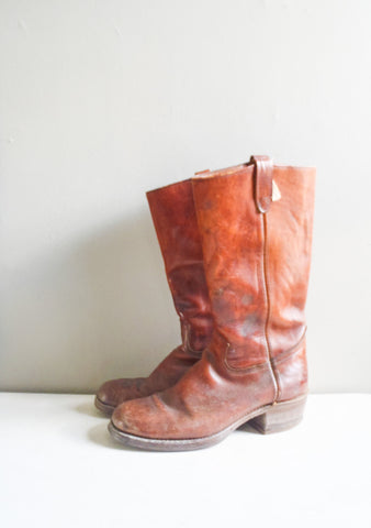 Men's brown leather durango west cowboy boots