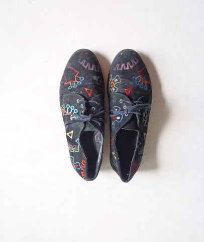 Funky black oxfords