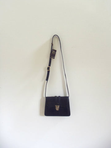 Pecari Bogota small black leather purse