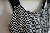 Jantzen Electric Beach black and white chevron one piece swimsuit