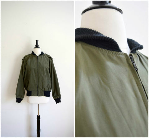 Military green canvas jacket