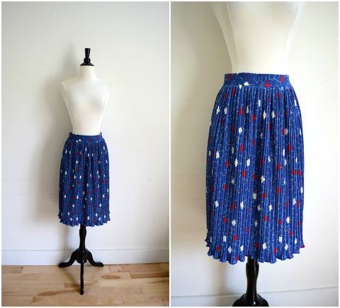 Pendleton Country Sophisticates blue accordion pleat skirt