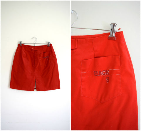 """Back 9"" red golf skort"