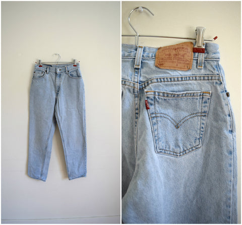 Levis light wash straight leg jeans