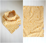The Beehive Bandana Scarf - handmade golden yellow and white geometric pattern neckerchief