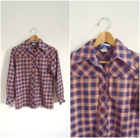 Boyfriend plaid button down shirt