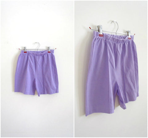 Light purple high waisted stretchy shorts