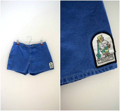Kanvas by Katin California retro patch surf trunks