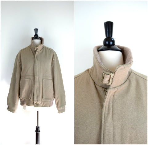 Men's Fox Knapp tan wool field jacket