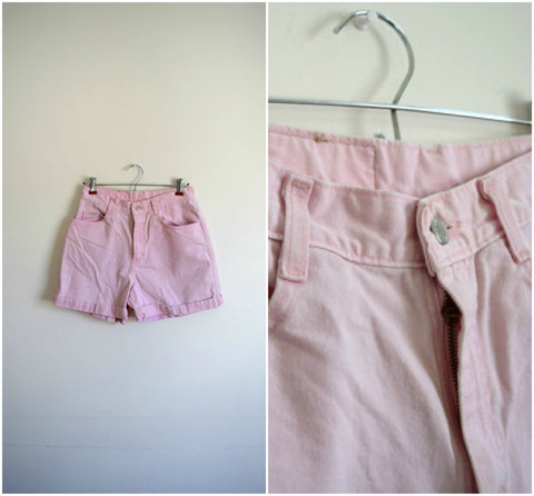 SALE Bubblegum pink high waisted denim shorts