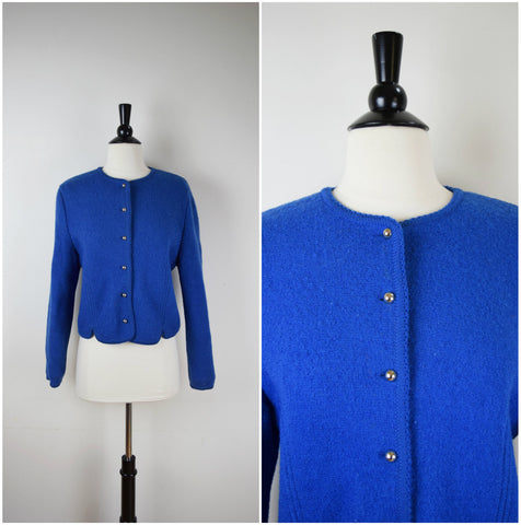 Carroll Reed Ski Shops blue boiled wool jacket