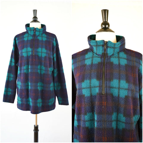 Southwestern plaid fleece