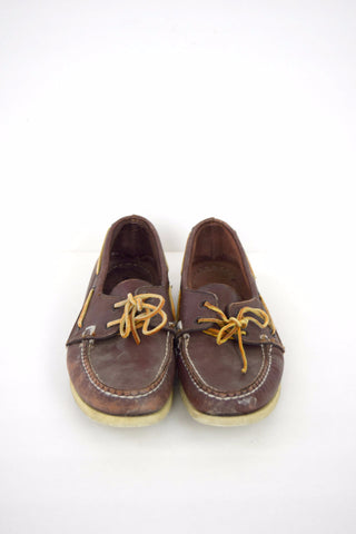 Men's Sperry Top Sider brown leather boat shoes