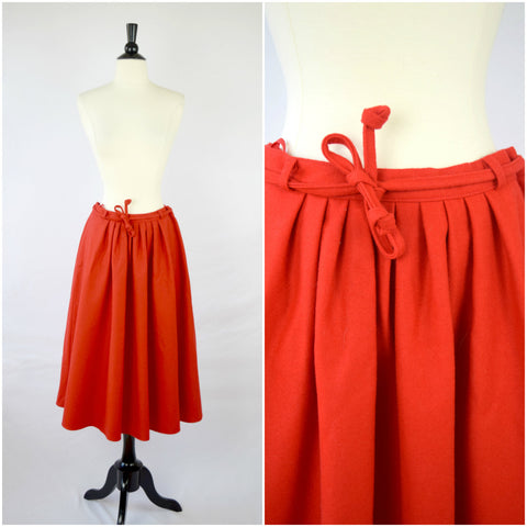 Litza German red wool circle skirt