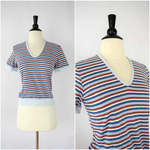 70's retro striped tee shirt