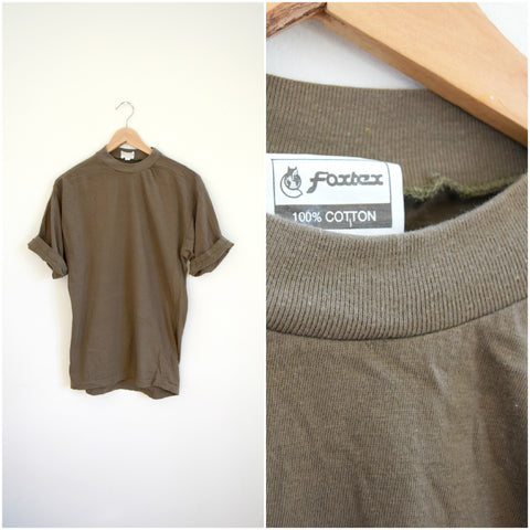 Men's army green soft vintage tee / retro Air Force tshirt
