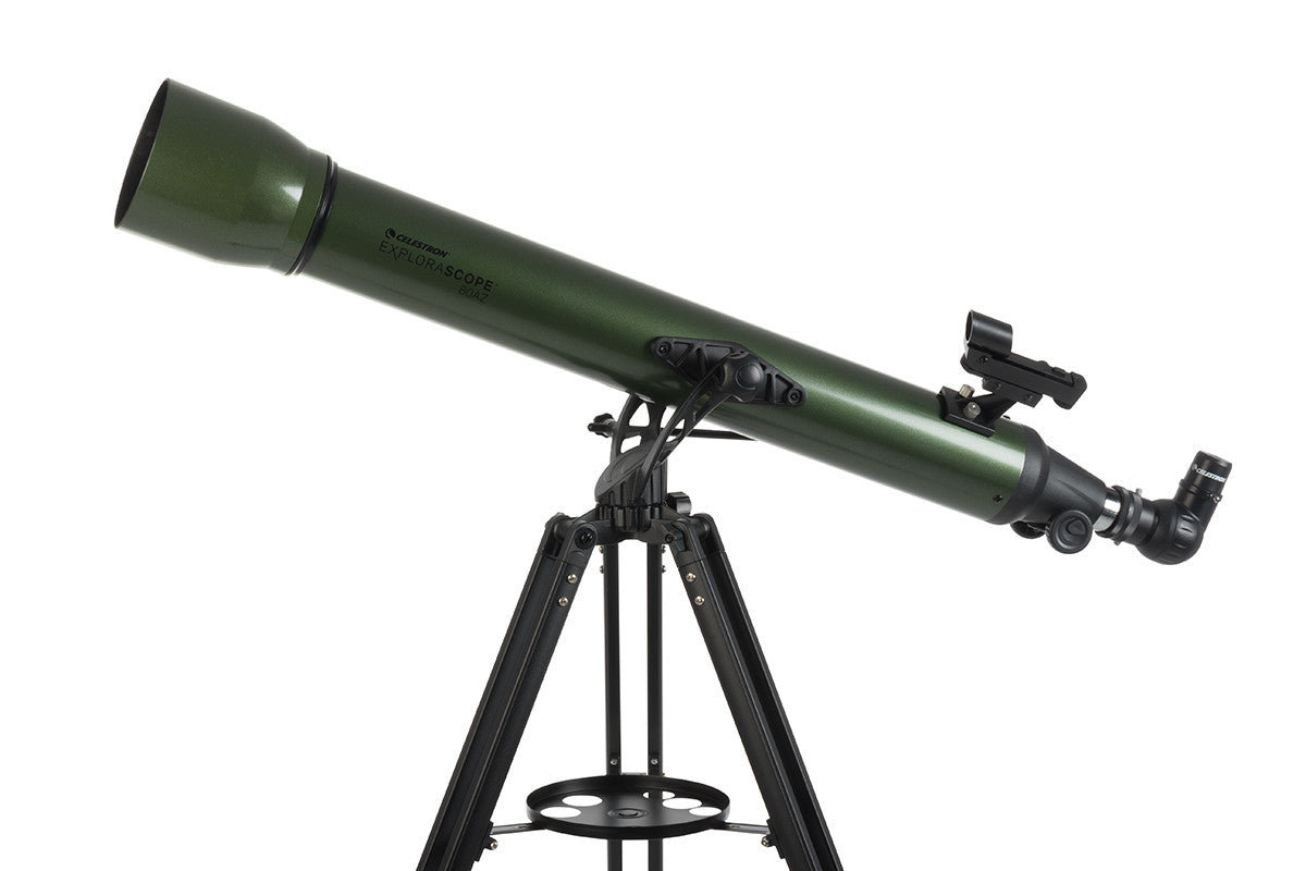 Celestron explorascope 80az refractor telescope 22102 telescopes