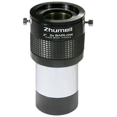 Zhumell Telescope 2 Inch 2x ED Barlow Lens with 1.25 Inch Adapter - ZHUE006-1