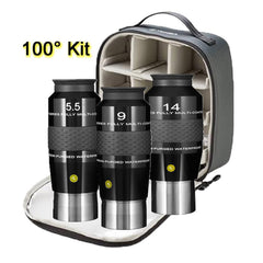 Explore Scientific 100-Degree Eyepiece Kit with Case - EPWP100-KIT